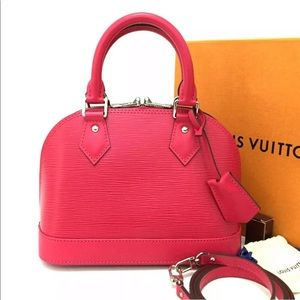 NEW* Louis Vuitton Epi Leather Alma BB Freesia